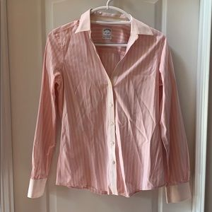 Brooks Brothers Pink Striped Button Down Shirt